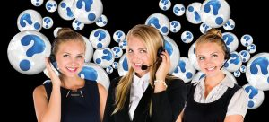 Women from call senters of cheap movers in Pittsburgh answering phone calls
