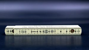 Measuring scale on the table