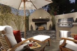 Your living space will be expanded and your home's value will be increased with outdoor fireplace