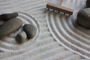 An ideal Zen garden for your desk will need...