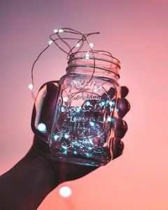 Jars with lighting