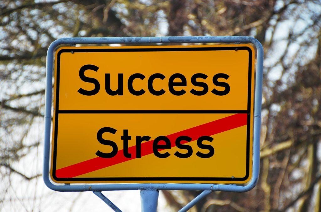 A success - stress sign.