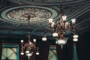 Antique chandeliers.