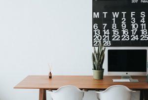 An office desk.
