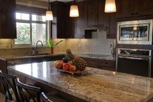 A luxurious kitchen.