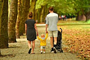 Family walking in one of the best US cities for families with children.