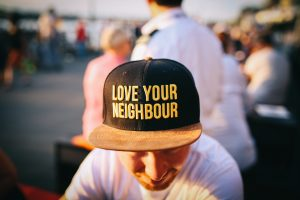 Love your neighbor hat - deal with the bad neighbors