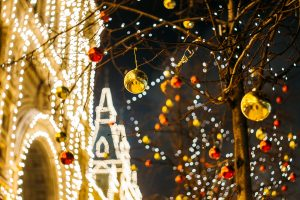 Christmas lights in the top Christmas towns in Pennsylvania
