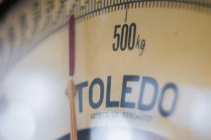 A beam scale 500 kg