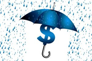 Moving Insurance Claim - umbrella with a dollar sign