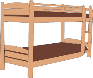 drawing of bunk bed