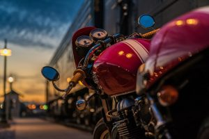 Prepare your motorcycle for transport - red motorcycle