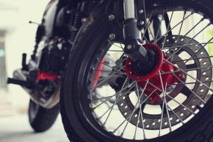motorcycle tires close up