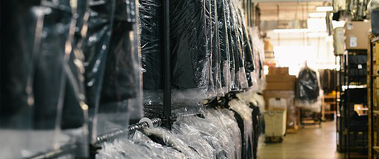Suits in storage