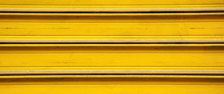 Yellow storage door