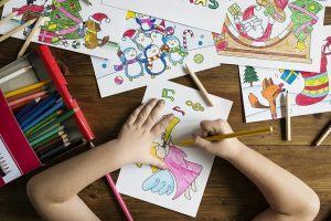 Kids can spend hours drawing.
