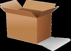 Cardboard box to store wood furniture correctly