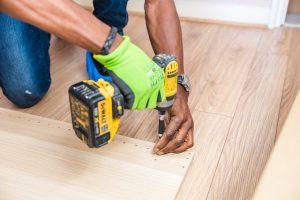 Man using drill