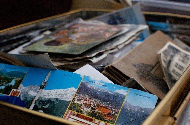 Box with photos