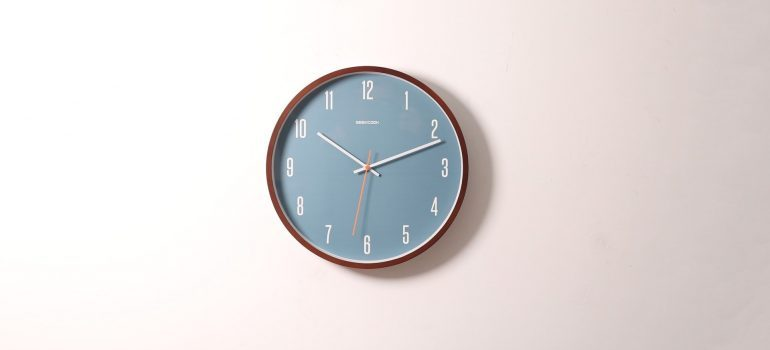 A clock on the wall - local movers Pittsburgh can speed up your relocation